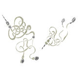Retro cartoon earphones Royalty Free Stock Photo