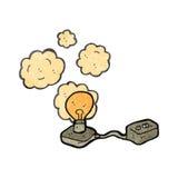 Retro cartoon electric light bulb Royalty Free Stock Images