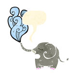 Retro cartoon elephant squirting water Royalty Free Stock Photo