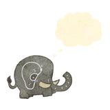 Retro cartoon elephant with thought bubble Stock Photos