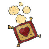 Retro cartoon embroidered cushion Royalty Free Stock Photography