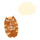 Retro cartoon evil cat Stock Image