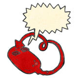Retro cartoon evil computer mouse Stock Photography