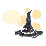 Retro cartoon evil witch's hat Stock Images