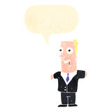 Retro cartoon excited businessman Stock Image