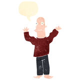 Retro cartoon excited man Royalty Free Stock Photography