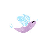 Retro cartoon exotic bird Stock Photo