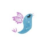 Retro cartoon exotic bird Stock Photography
