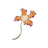 Retro cartoon exotic flower Royalty Free Stock Photo