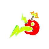 Retro cartoon exploding bomb Royalty Free Stock Photo