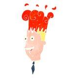 Retro cartoon exploding head Royalty Free Stock Photos