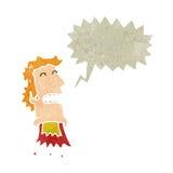 Retro cartoon exploding head man Royalty Free Stock Images