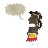 Retro cartoon exploding head man Royalty Free Stock Photo