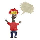 Retro cartoon exploding head man Royalty Free Stock Image