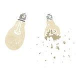 retro cartoon exploding light bulb Stock Images