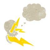 Retro cartoon exploding skull Stock Image