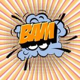 Retro cartoon explosion pop art comic set. Vector Stock Images