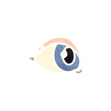 Retro cartoon eye Royalty Free Stock Photography