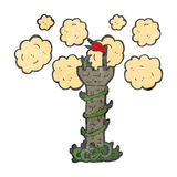 Retro cartoon fairytale tower Royalty Free Stock Images