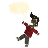 Retro cartoon falling man Stock Photography
