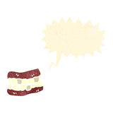 Retro cartoon false teeth Stock Photography