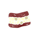 Retro cartoon false teeth Royalty Free Stock Photos