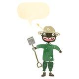 retro cartoon farmer Royalty Free Stock Image