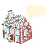 Retro cartoon farmhouse Stock Image