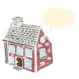 Retro cartoon farmhouse Stock Image