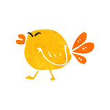 Retro cartoon fat bird Royalty Free Stock Photo