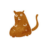 Retro cartoon fat cat Stock Photo