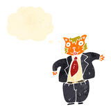 Retro cartoon fat cat boss Stock Photos