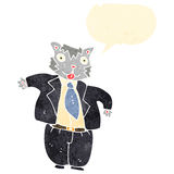 Retro cartoon fat cat businessman Royalty Free Stock Photo