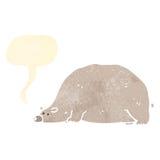 retro cartoon fat polar bear Stock Photography