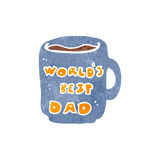 Retro cartoon father's day mug Royalty Free Stock Photos