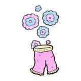 Retro cartoon female underpants Stock Photo