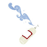 Retro cartoon fire extinguisher. Retro cartoon with texture. Isolated on White Royalty Free Stock Image