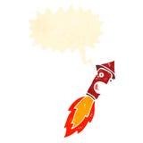 Retro cartoon firework Royalty Free Stock Photography