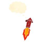 Retro cartoon firework Stock Image