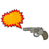 Retro cartoon firing pistol Stock Image