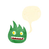 Retro cartoon flame creature Stock Photos