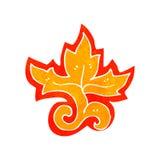 retro cartoon flame decorative element Stock Image