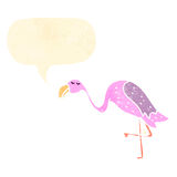 retro cartoon flamingo Stock Photos