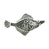 Retro cartoon flat fish Royalty Free Stock Photography