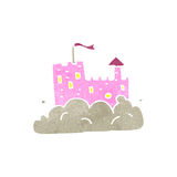 retro cartoon floating castle Royalty Free Stock Photography