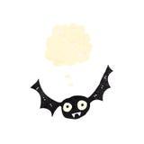 Retro cartoon flying bat Stock Photography