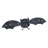 Retro cartoon flying bat Royalty Free Stock Image