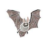 Retro cartoon flying bat Stock Image