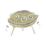 retro cartoon flying saucer Royalty Free Stock Photo