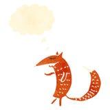 retro cartoon fox Stock Photography